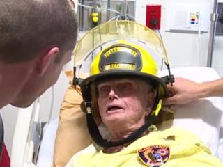 Fire dept. makes WWII vet honorary member