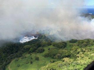 Lava evaporated Hawaii's Green Lake