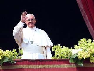 Pope Francis talks climate change at the Vatican