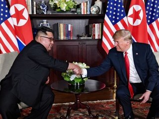 Trump, Kim meet for historic summit in Singapore
