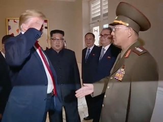 Trump saluted North Korean officer at Kim summit