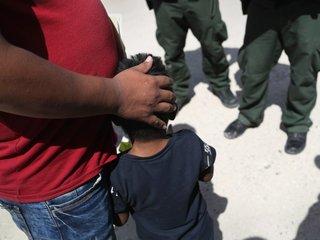 Trump blames Democrats for family separations