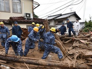 Dozens of people dead after heavy rains in Japan
