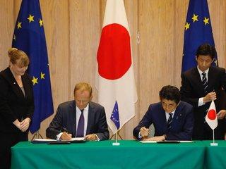 Japan, EU sign bilateral trade deal