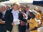 Trump gets firsthand look at storm damage