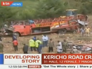 Kenya bus crash kills at least 55