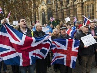 Protestors demand Brexit revote