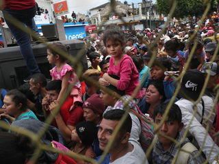 Scenes from the migrant caravan heading to U.S.